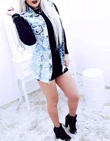 Maxi Colete Jeans Comprido Verão 2018 Roupa Feminina Promoçã