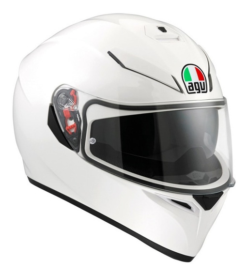Casco Integral Agv K3 Sv Blanco White Doble Visor Sti Motos
