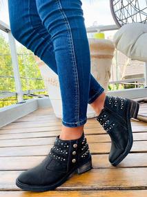 Botas Mujer Zapatos Botinetas Dama Tachas Moda 2019 A.4300
