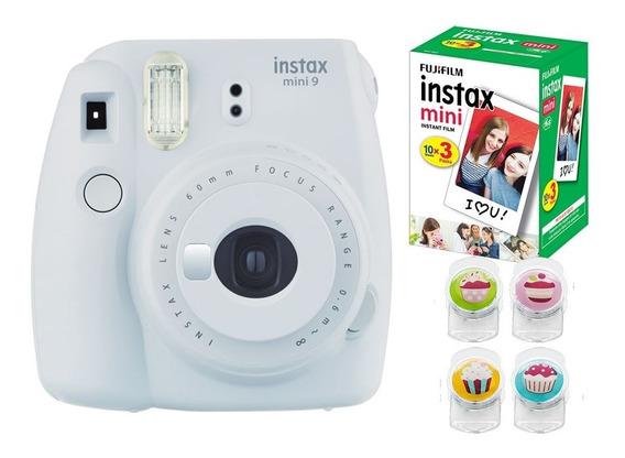 Câmera Fujifilm Instax Mini9 + Pack 30 Fotos + Clips Colors