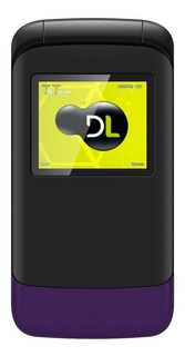 DL YC-230 Dual SIM 32 MB Preto/Violeta 32 MB RAM