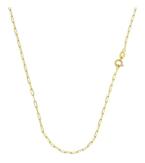 Cordão Cartier Fino 60 Cm Folheado A Ouro 18k