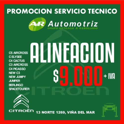Promocion Alineacion Servicio Tecnico