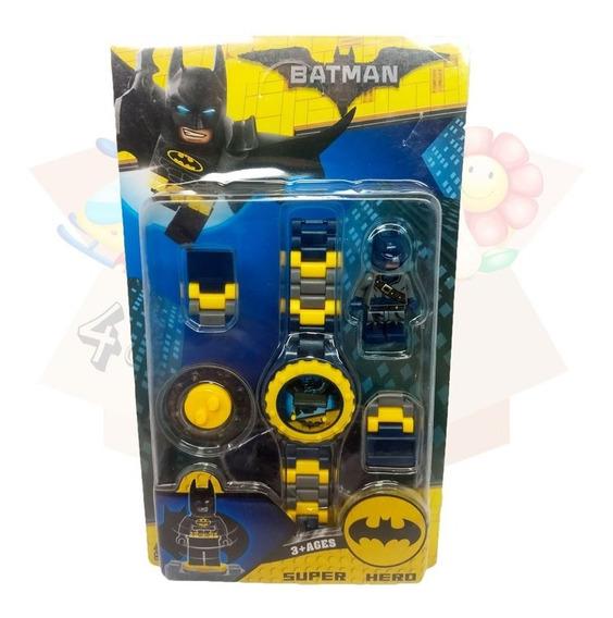 Relógio Digital Infantil Batman + Boneco Lego Do Persongem