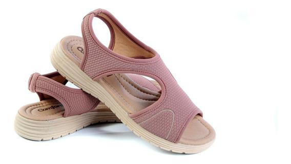 Sandalia Comfortflex 20-51304 Lycra Linha Extra Conforto