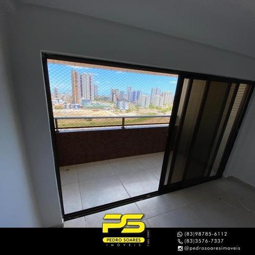 Apartamento Com 3 Dormitórios À Venda, 74 M² Por R$ 350.000 - Aeroclube - João Pessoa/pb - Ap3712