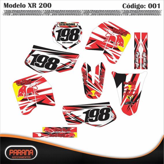 Adesivo Moto Trilha Honda Xr200 Xr-200 Rbull Personalizado