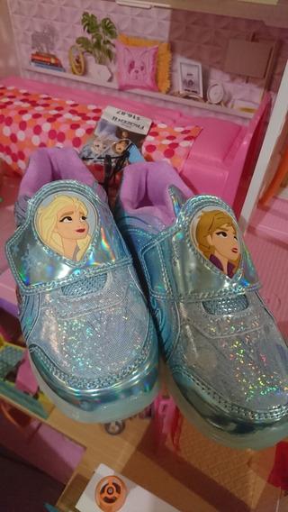 Oferta! Tenis Frozen Y Ama Zapatos Frozen Talla 11 Americano