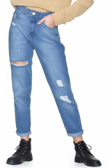 Jeans Mujer Rotos Anchos Mercadolibre Com Ar