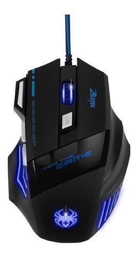 Imagen 1 de 2 de Mouse de juego Redlemon  77843 negro