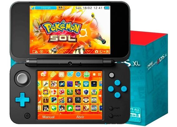 New 2ds Xl Azul+ 200juegos 32gb Pokemon Mario Maker
