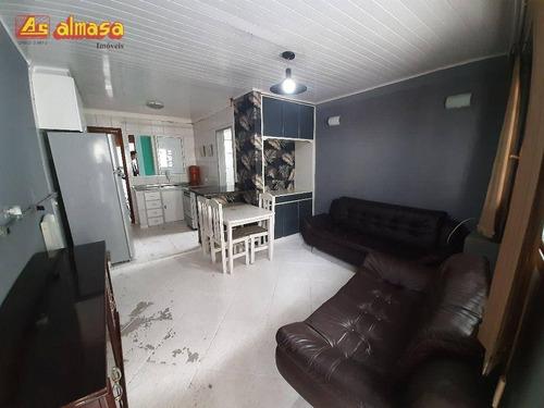 Imagem 1 de 10 de Casa Mobiliada Com 1 Dormitório Para Alugar, 50 M² Por R$ 850/mês - Jardim Vila Galvão - Guarulhos/sp - Ca0269