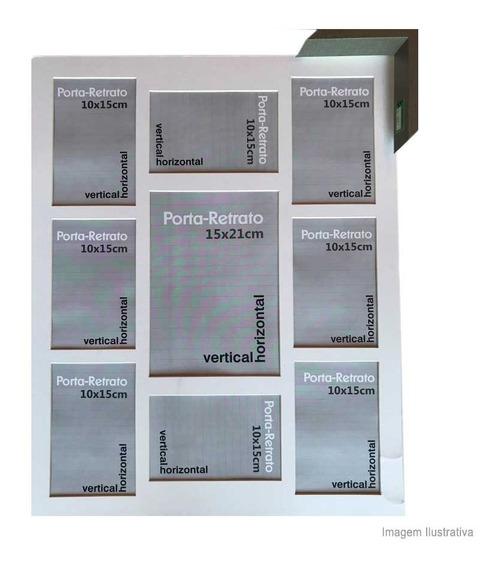 Porta Retrato 8 Janelas 10x15cm E 1 Janela 15x21cm Windows Cinza Infinity Infinity