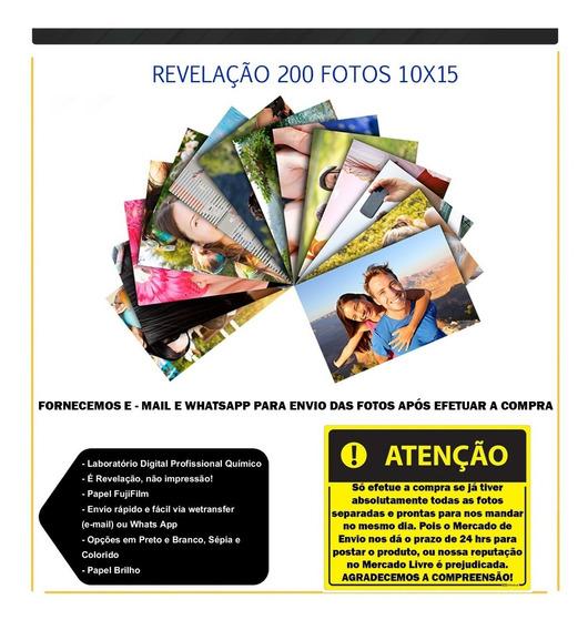 Revelação De Fotos 10x15 - Combo Com 200 Fotos