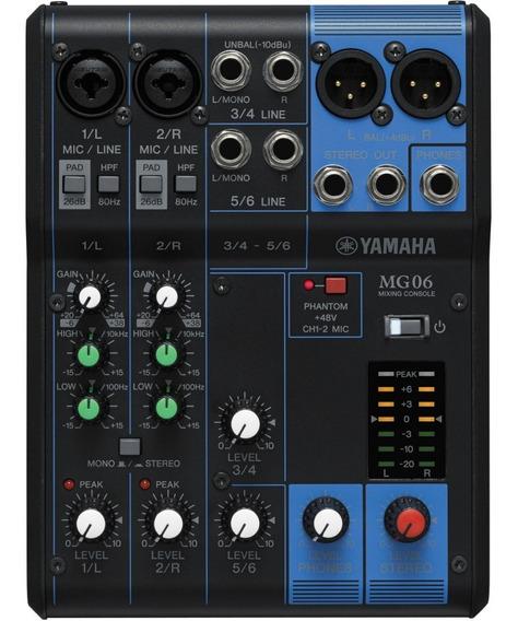 Mesa De Som 6 Canais Mg06 - Yamaha