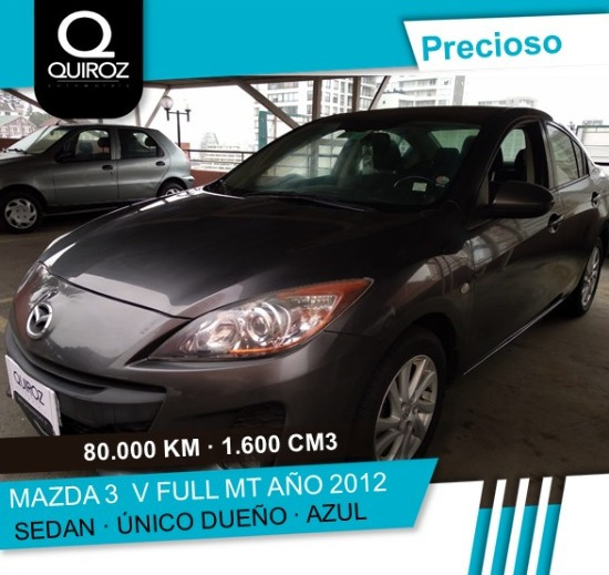 Mazda 3 1.6 Full Mt 2012