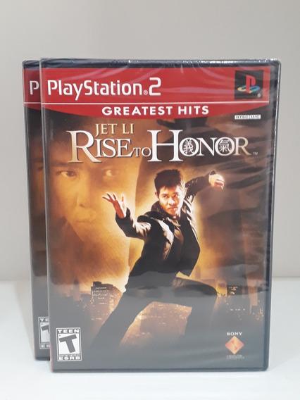 Jogo Jet Li Rise To Honor Original Playstation2 Novo Lacrado