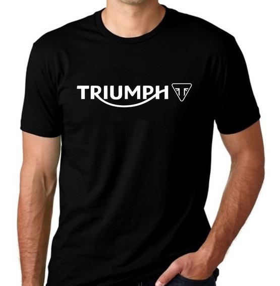 Camiseta Moto Triumph Algodão 100% Camisa Triumph