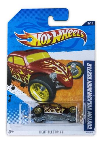 Hot Wheels Hw Heat Fleet Custom Volkswagen Beetle 2011 V5207