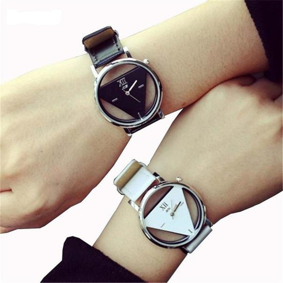 Duo 2 Relojes Parejas Elegantes Triangular Enamorados