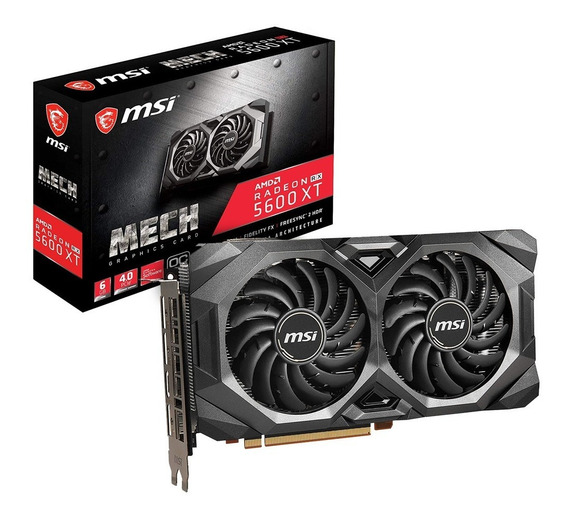 Placa Video Msi Radeon Rx 5600 Xt Mech Oc 6gb Gddr6 Oficial