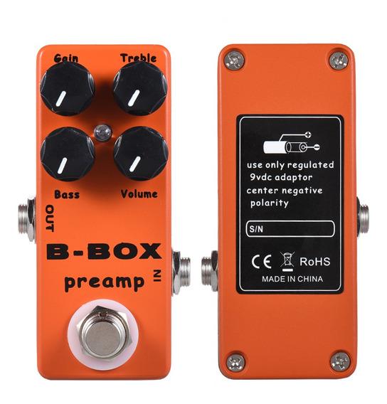 Mosky B-box Guitarra Elétrica Preamp Overdrive Efeito Pedal
