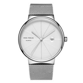 Mini Focus Moda Hombres Metal Impermeable Reloj Accesorio Ba