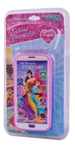 Imagen 1 de 4 de Celular Phone En Ingles De Princesa Disney - Ditoys E.full