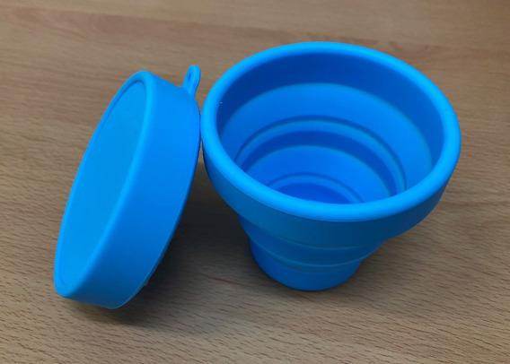 Vaso Esterilizador Para Copa Menstrual Azul / Microondas