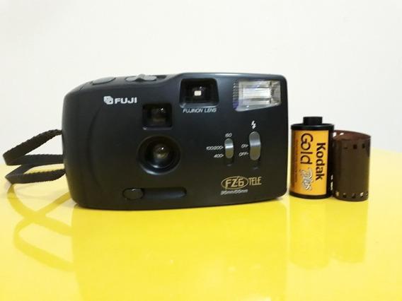 Câmera Fotográfica Analógica Fuji Fz6 Antiga Rara
