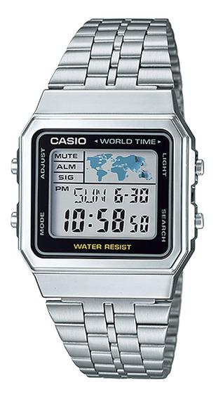Relógio Casio Unissex Vintage World Time A500wa-1df