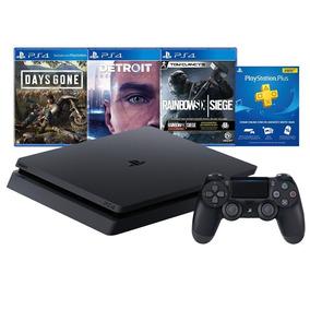 Console Sony Playstation 4 Hits Bundle 1tb Blu-ray 3 Jogos