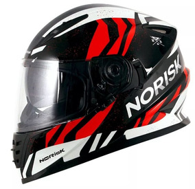 Capacete Norisk Ff302 Jungle Black/white/red