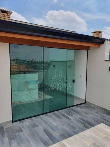 Imagem 1 de 7 de Cobertura Com 2 Dormitórios À Venda, 98 M² Por R$ 390.000,00 - Vila Camilópolis - Santo André/sp - Co5556