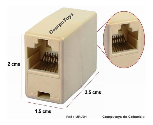Adaptador Union Rj45  Para Extender Cables De Red Cat 5 Y 6
