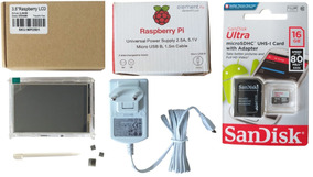 Lcd 3.5 Touch Raspberry Pi3 B B + Case Fonte Oficial 16gb 10