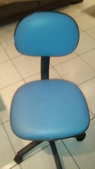 Cadeira Giratória Para Escritório Na Cor Azul