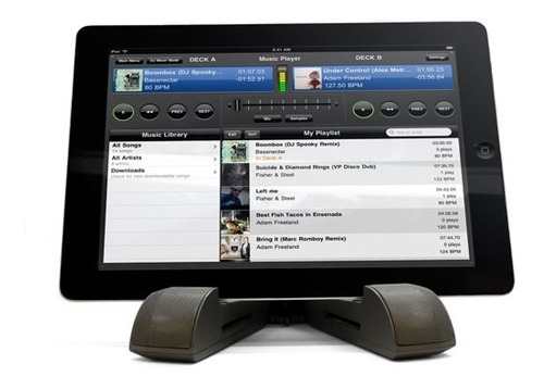 Parlante Base Tablet Bluetooth Nfc Recargable Hifi Estereo