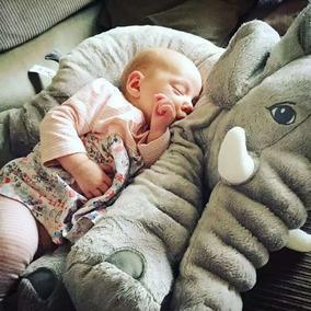 Elefante De Plush 69 Cm Almofada Anti-alérgico Bebê Dormir