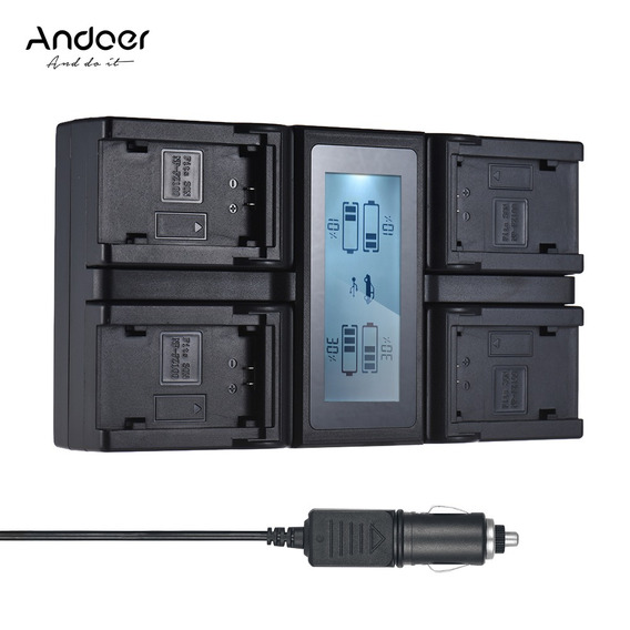 Para Np -fz100 - Carregador Bateria Câmera Lcd Canal Da Manc