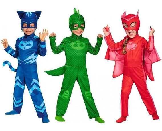 Disfraz Pj Masks Gekko Ululette O Cat Boy Heroes En Pijamas