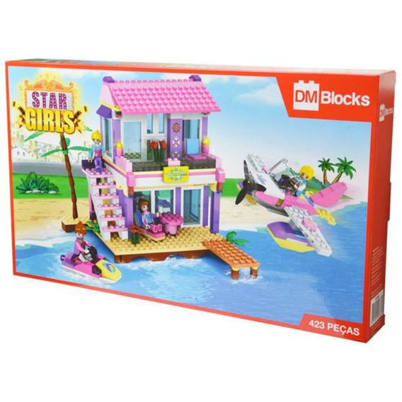 Bloco De Montar Tipo Lego Star Girls 423 Peças - Dm Toys