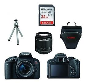 Canon Rebel T7i C/ 18-55mm + 32gb + Bolsa + Tripé