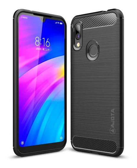 Forro Ajota Fibra De Carbono Xiaomi Redmi 7 / Redmi Note 7