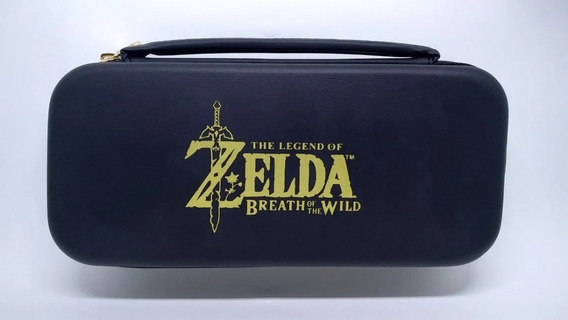 Case Zelda Para Nintendo Switch Travel + 2 Grips Analógicos