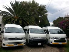 Renta De Camionetas Toyota Hiace Con Chofer * Buen Precio