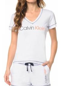 Camiseta Calvin Klein Underwear Gola V Estampada Rico30