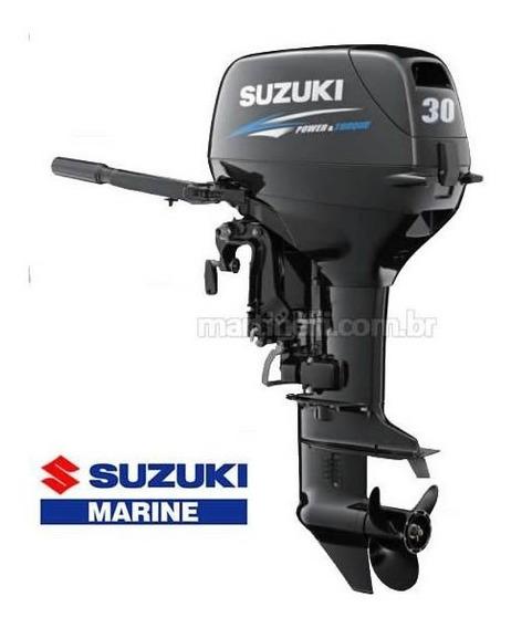 Motor De Popa Suzuki 30hp Dt30 2t Partida Elétrica +carrinho