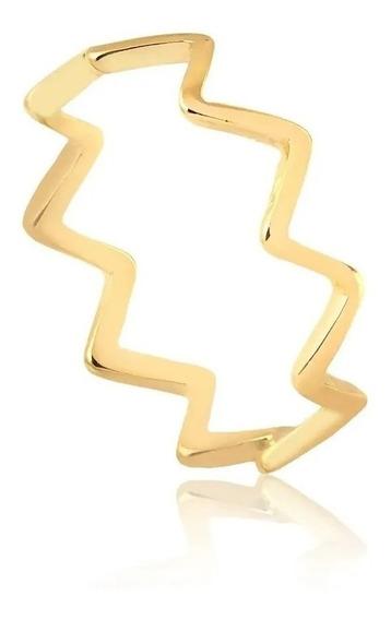 Kit 3 Aneis De Ouro 18k