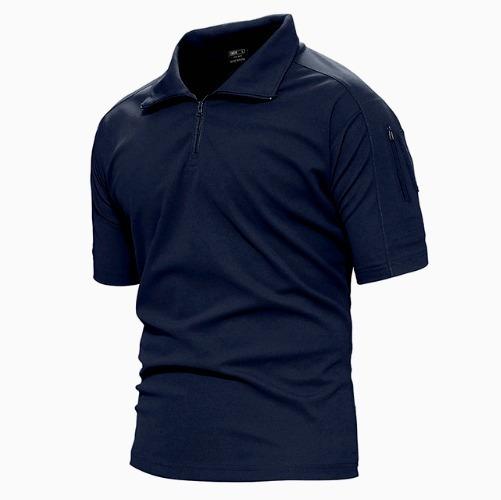 Camisa Playera Tactica Azul Tallas Extras Policias Envio Gra